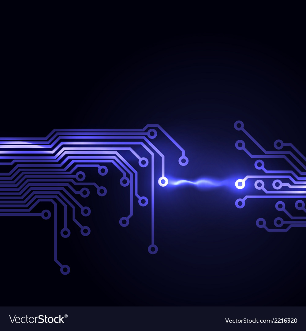 Abstract dark background with a circuit board vector | Price: 1 Credit (USD $1)