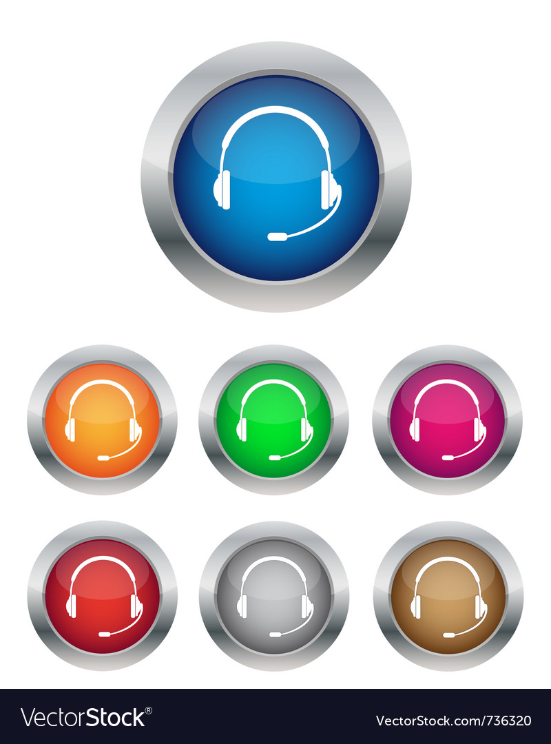 Call center buttons vector | Price: 1 Credit (USD $1)