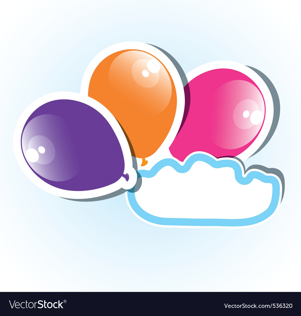 Colorful paper balloons with copyspace vector | Price: 1 Credit (USD $1)