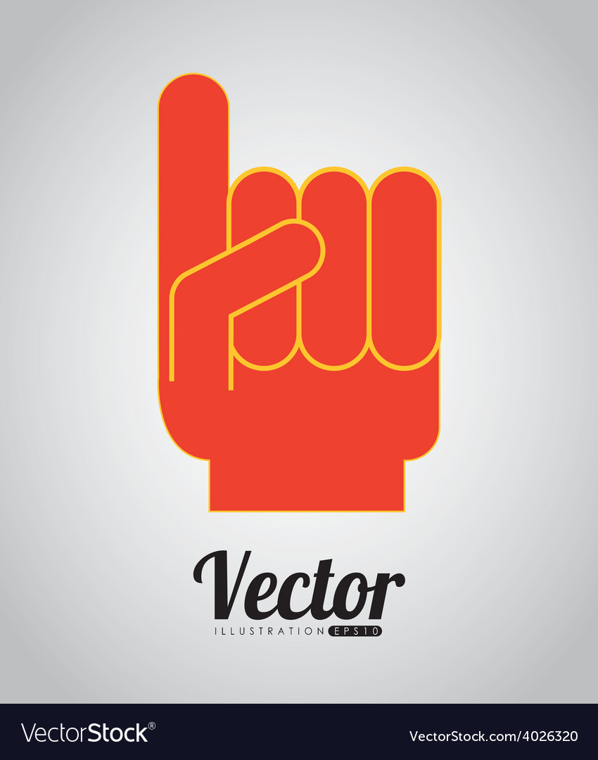 Glove one vector | Price: 1 Credit (USD $1)