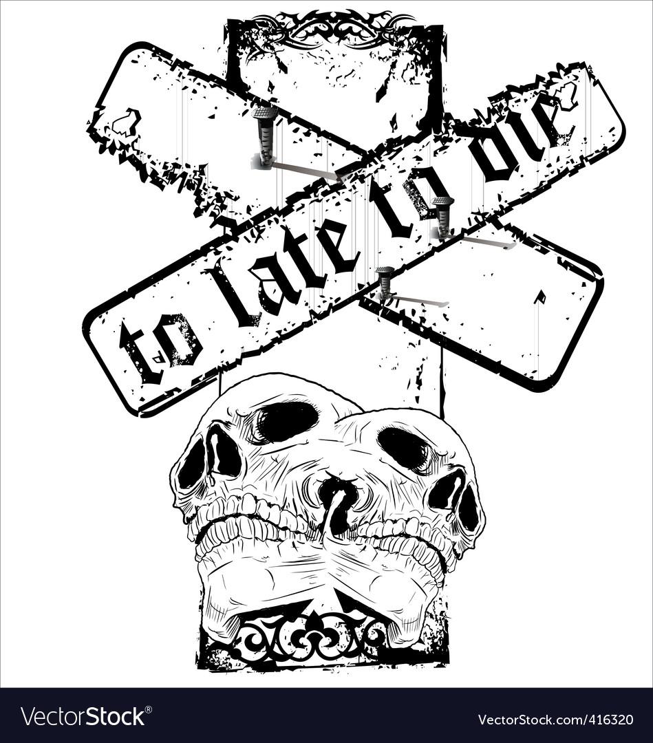 Grunge skull background vector   Price: 1 Credit (USD $1)