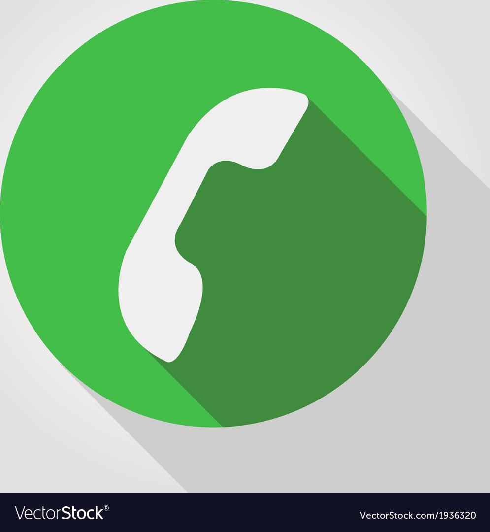 Phone icon green flat design vector | Price: 1 Credit (USD $1)