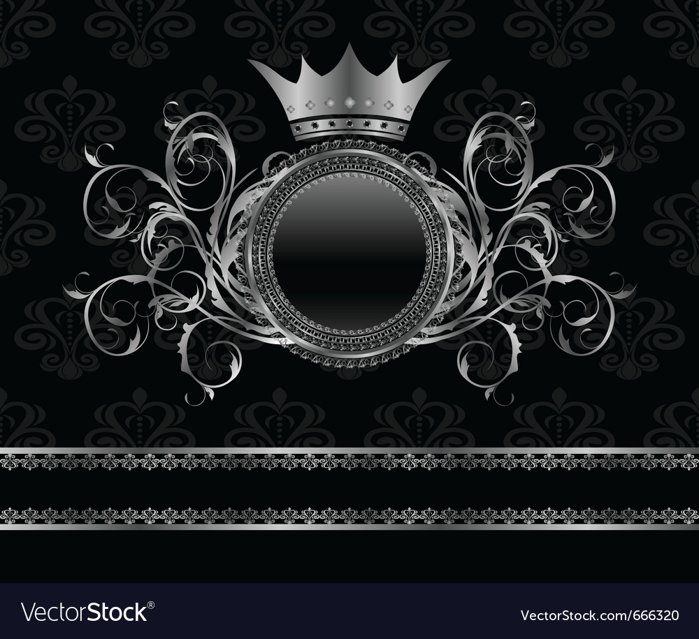 Silver vintage frame vector | Price: 3 Credit (USD $3)