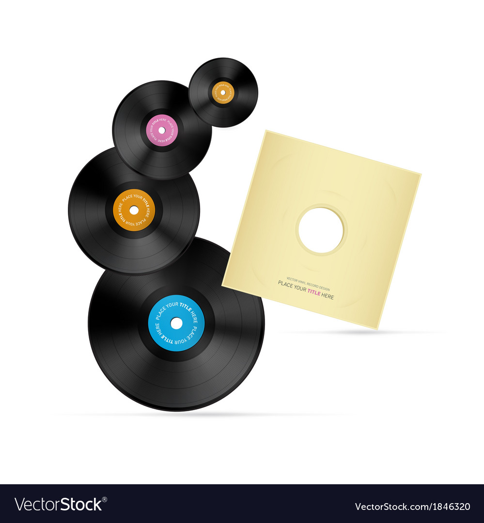 Vinyl record discs vector | Price: 1 Credit (USD $1)