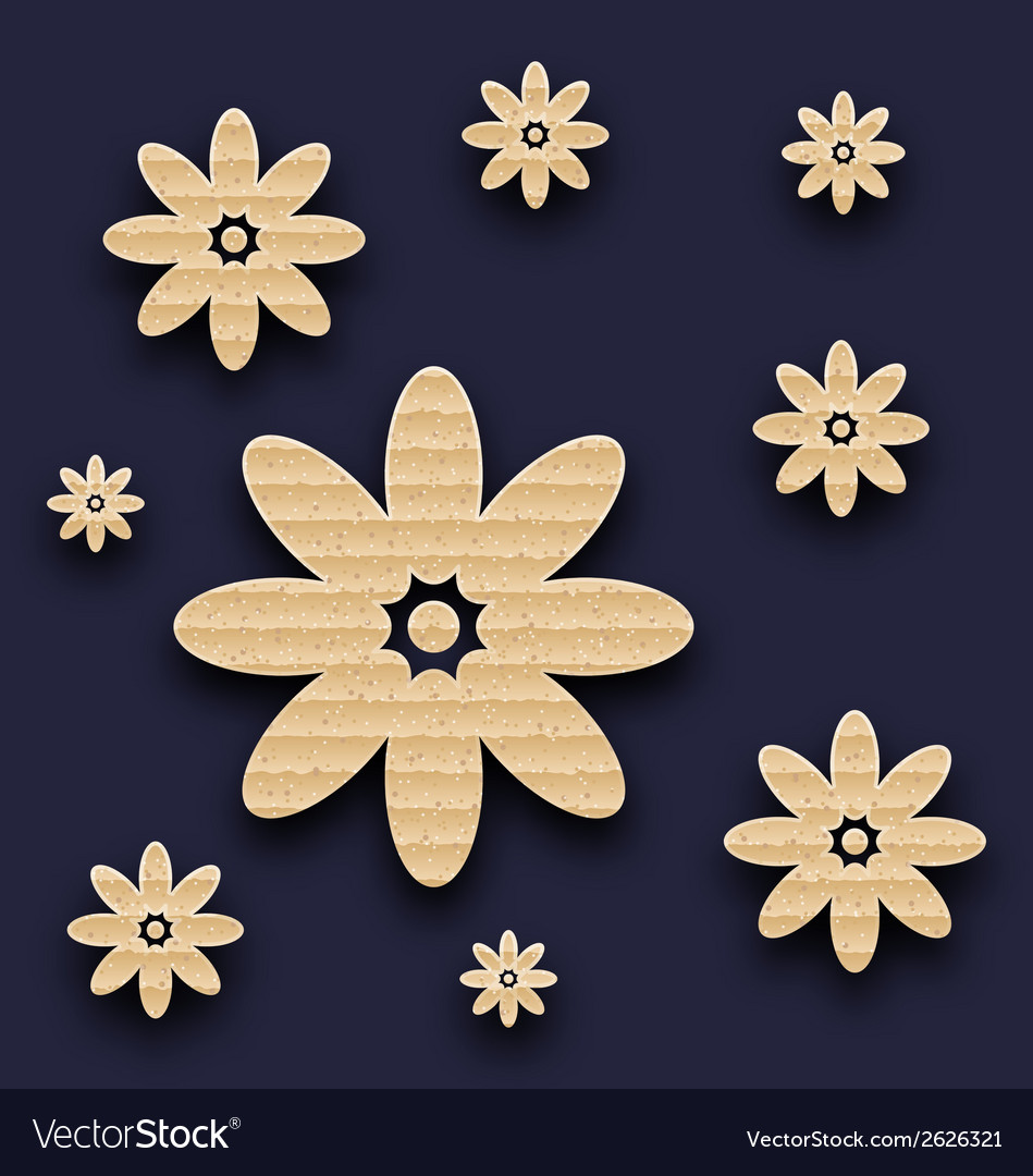 Abstract paper flowers background carton texture vector   Price: 1 Credit (USD $1)