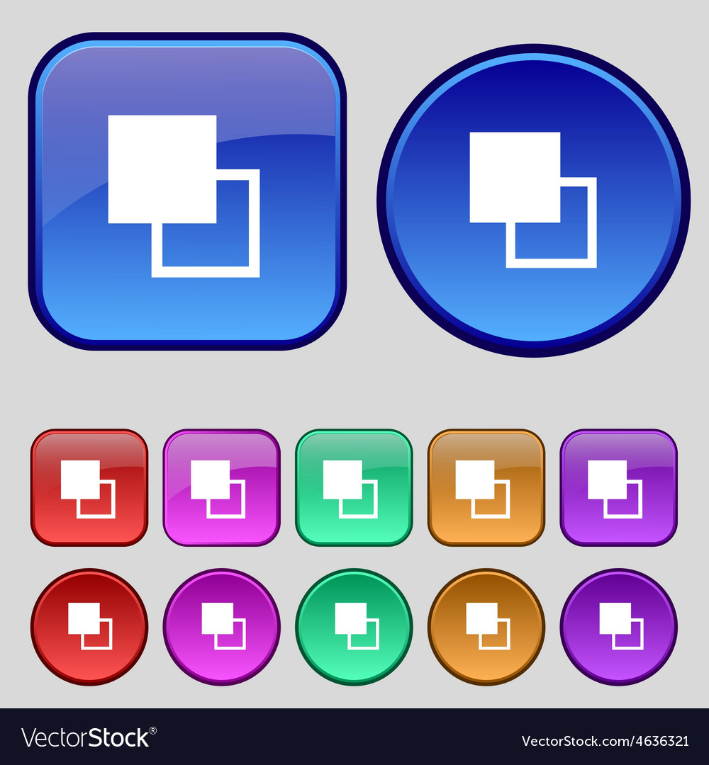Active color toolbar icon sign a set of twelve vector | Price: 1 Credit (USD $1)