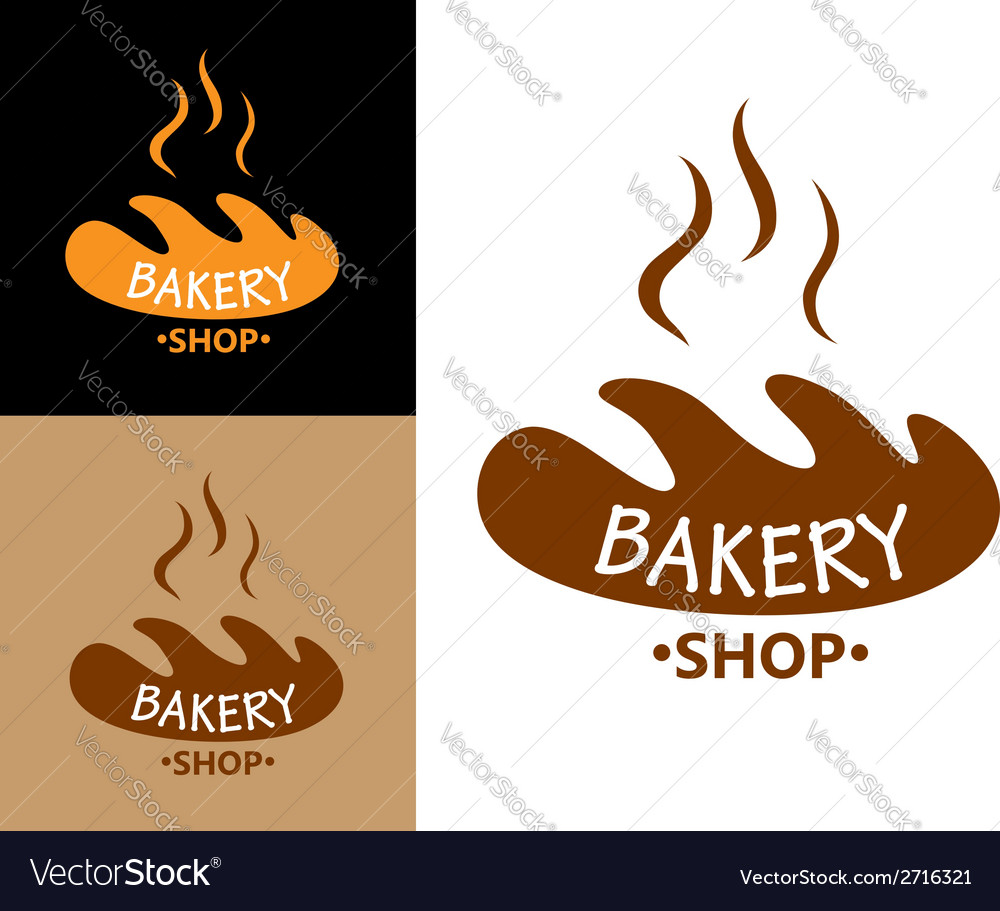 Bakery food symbol with bread vector | Price: 1 Credit (USD $1)