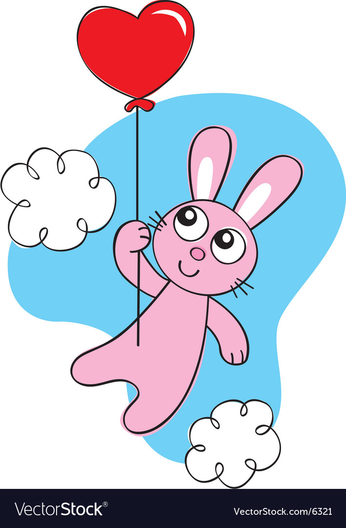 Balloon bunny vector | Price: 1 Credit (USD $1)