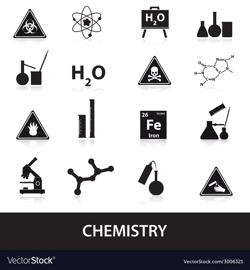 Chemistry icons set eps10 vector | Price: 1 Credit (USD $1)