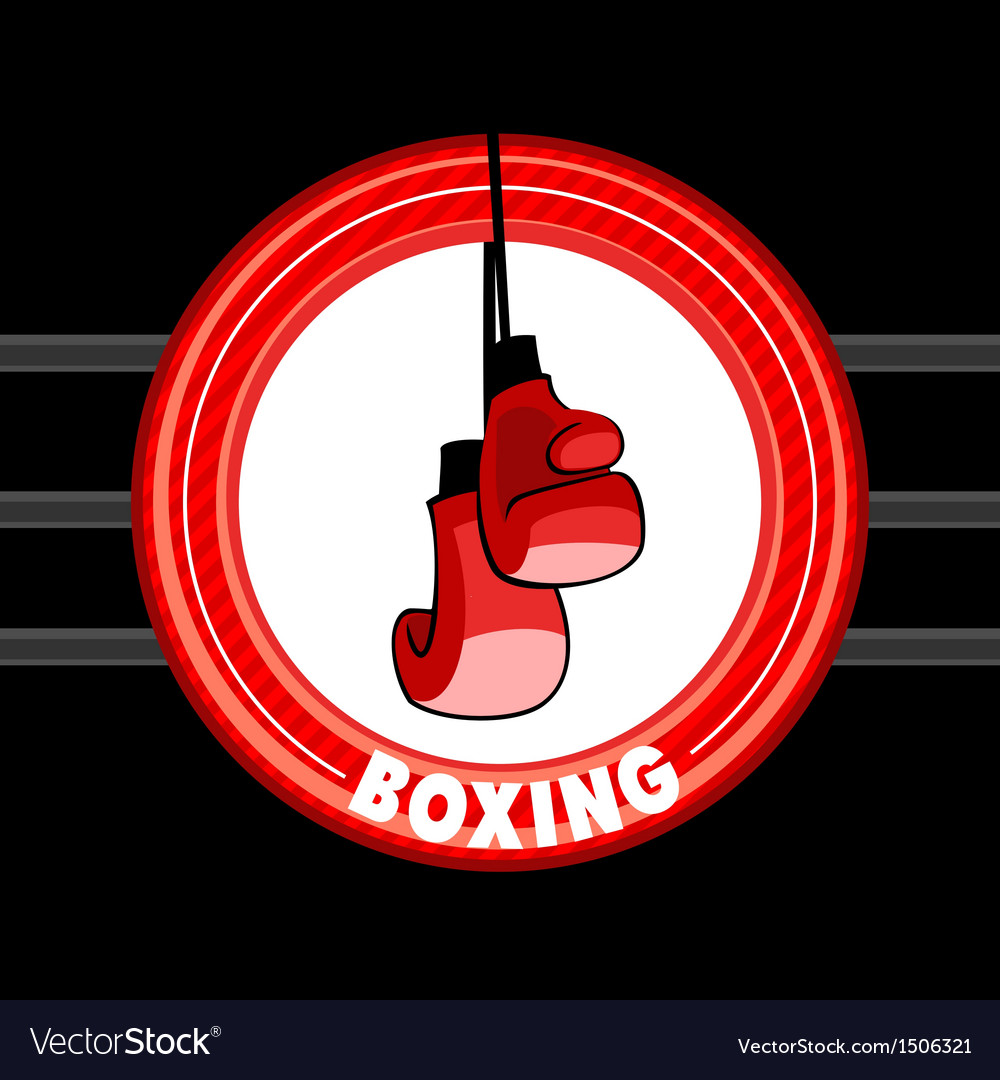Emblem of boxing vector | Price: 1 Credit (USD $1)
