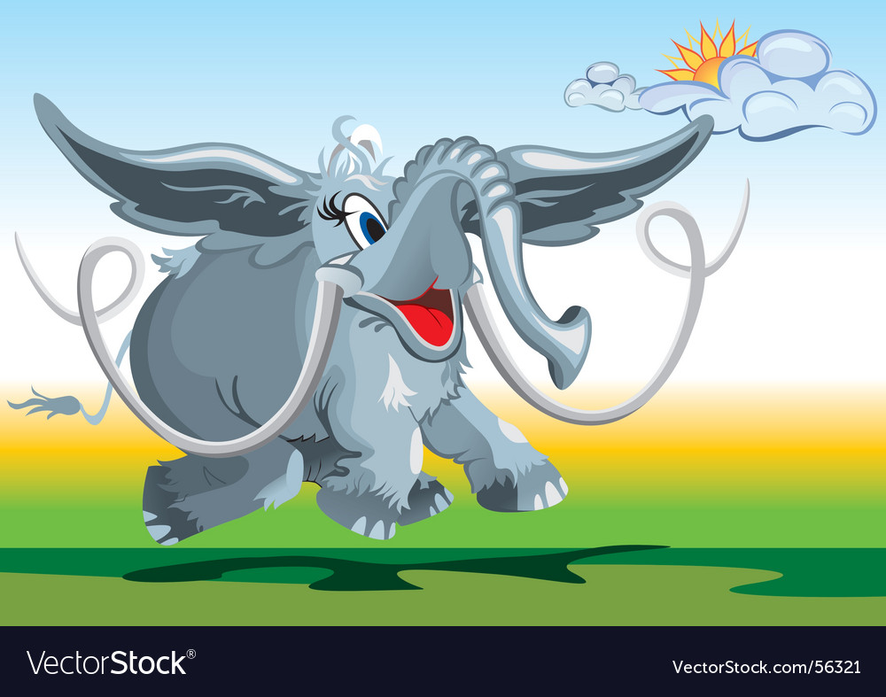 Flying elephant vector | Price: 3 Credit (USD $3)