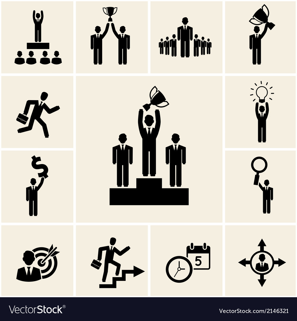 Set of business and career icons vector | Price: 1 Credit (USD $1)