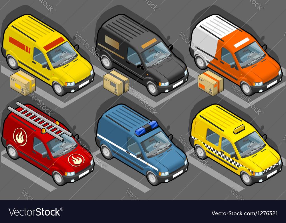 Set of vans vector | Price: 1 Credit (USD $1)