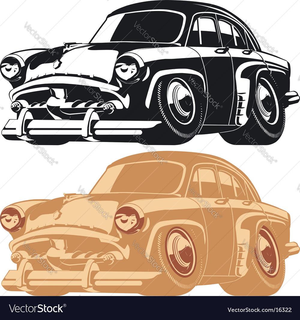 Cartoon retro car vector | Price: 1 Credit (USD $1)