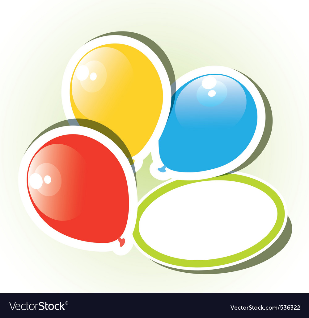 Colorful paper balloons vector | Price: 1 Credit (USD $1)