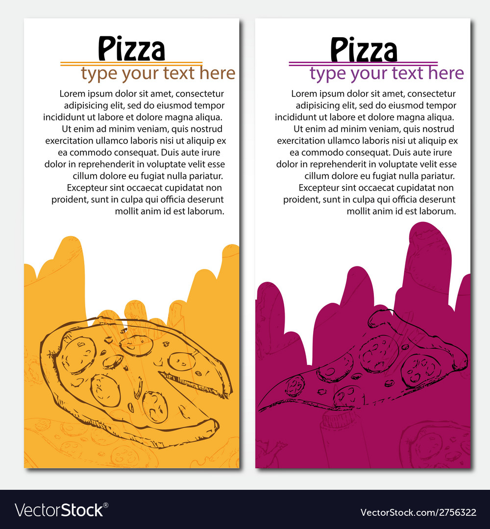 Fast food background pizza banners vector | Price: 1 Credit (USD $1)