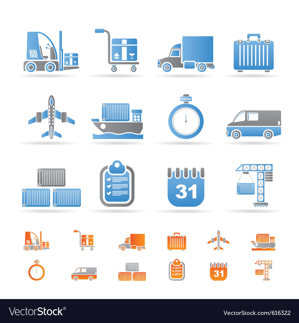 Logistics and transportation icons vector | Price: 1 Credit (USD $1)
