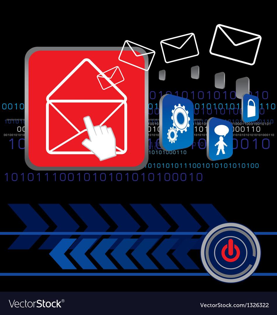 Send e-mail vector | Price: 1 Credit (USD $1)