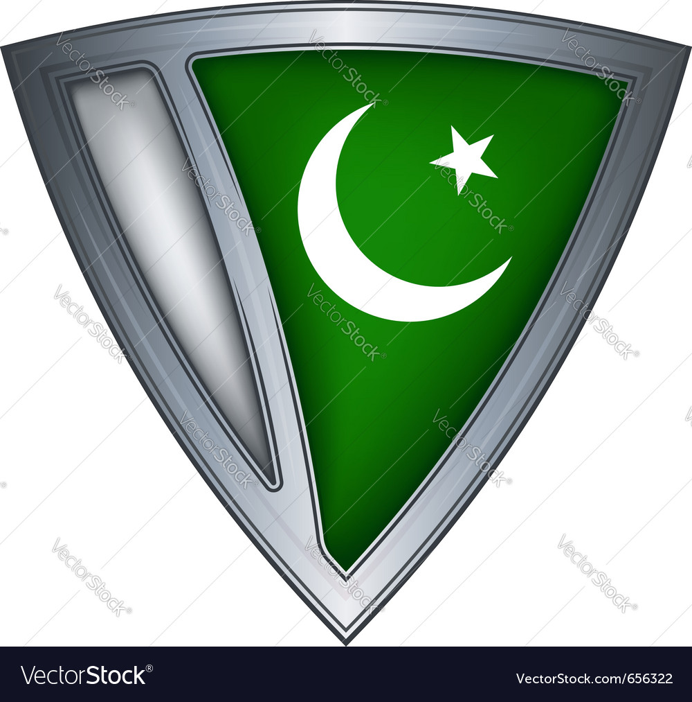 Steel shield with flag pakistan vector | Price: 1 Credit (USD $1)