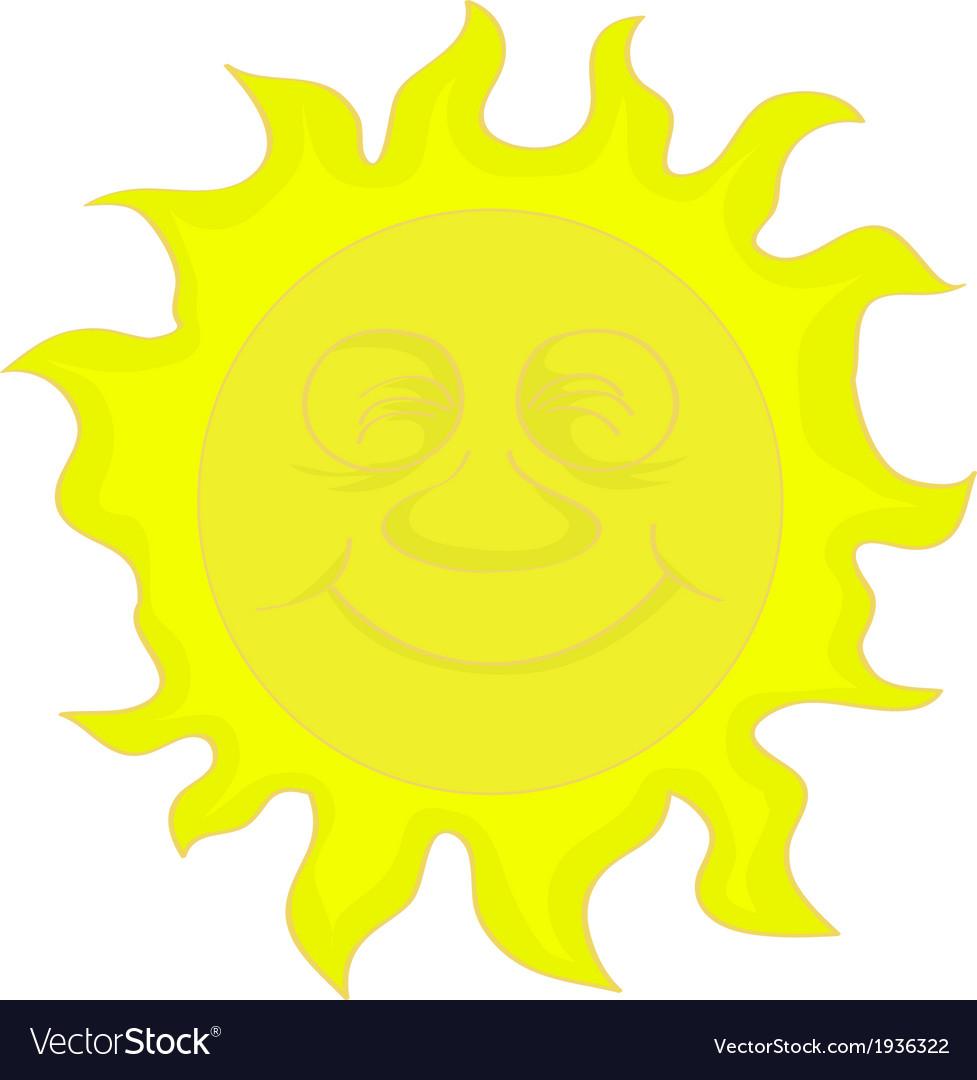 Sun cartoon vector | Price: 1 Credit (USD $1)