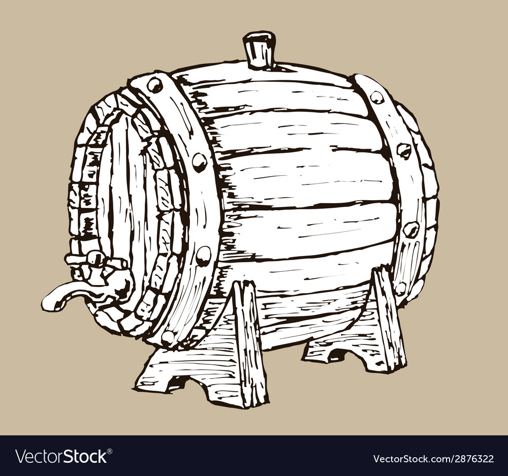 Wooden barrel vector | Price: 1 Credit (USD $1)