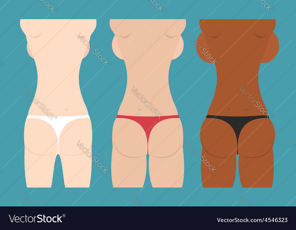 Beautiful girls in bikini spin and booty woman vector | Price: 1 Credit (USD $1)