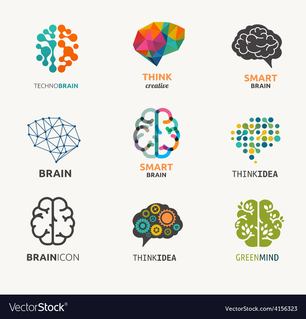 Collection of brain creation idea icons and vector | Price: 1 Credit (USD $1)