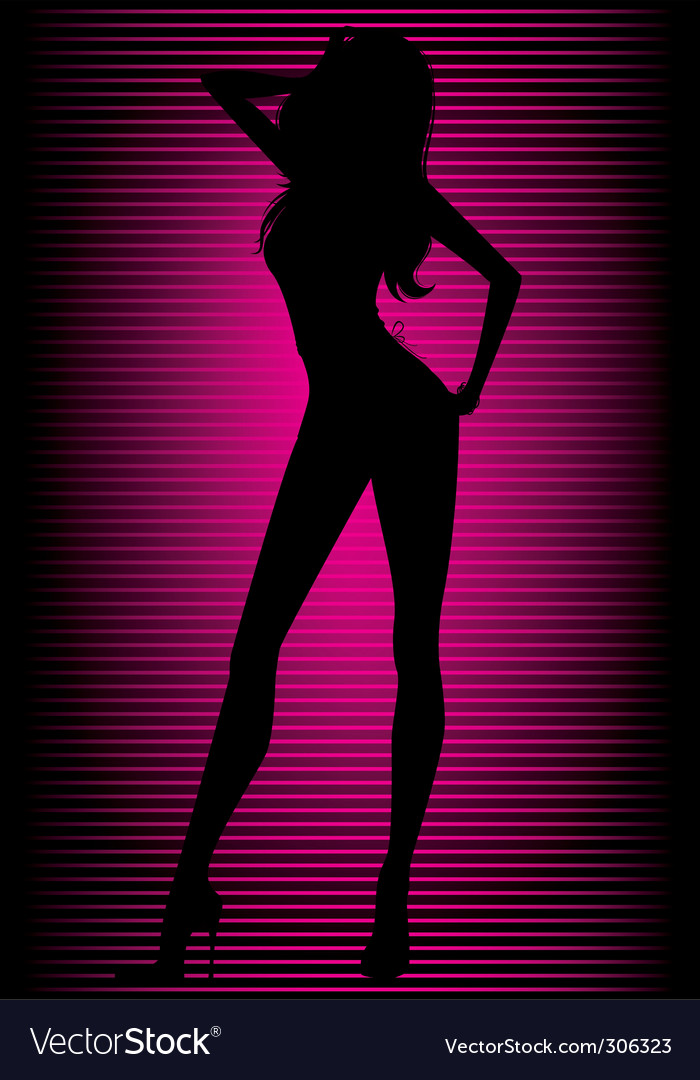Dancing girl neon vector | Price: 1 Credit (USD $1)