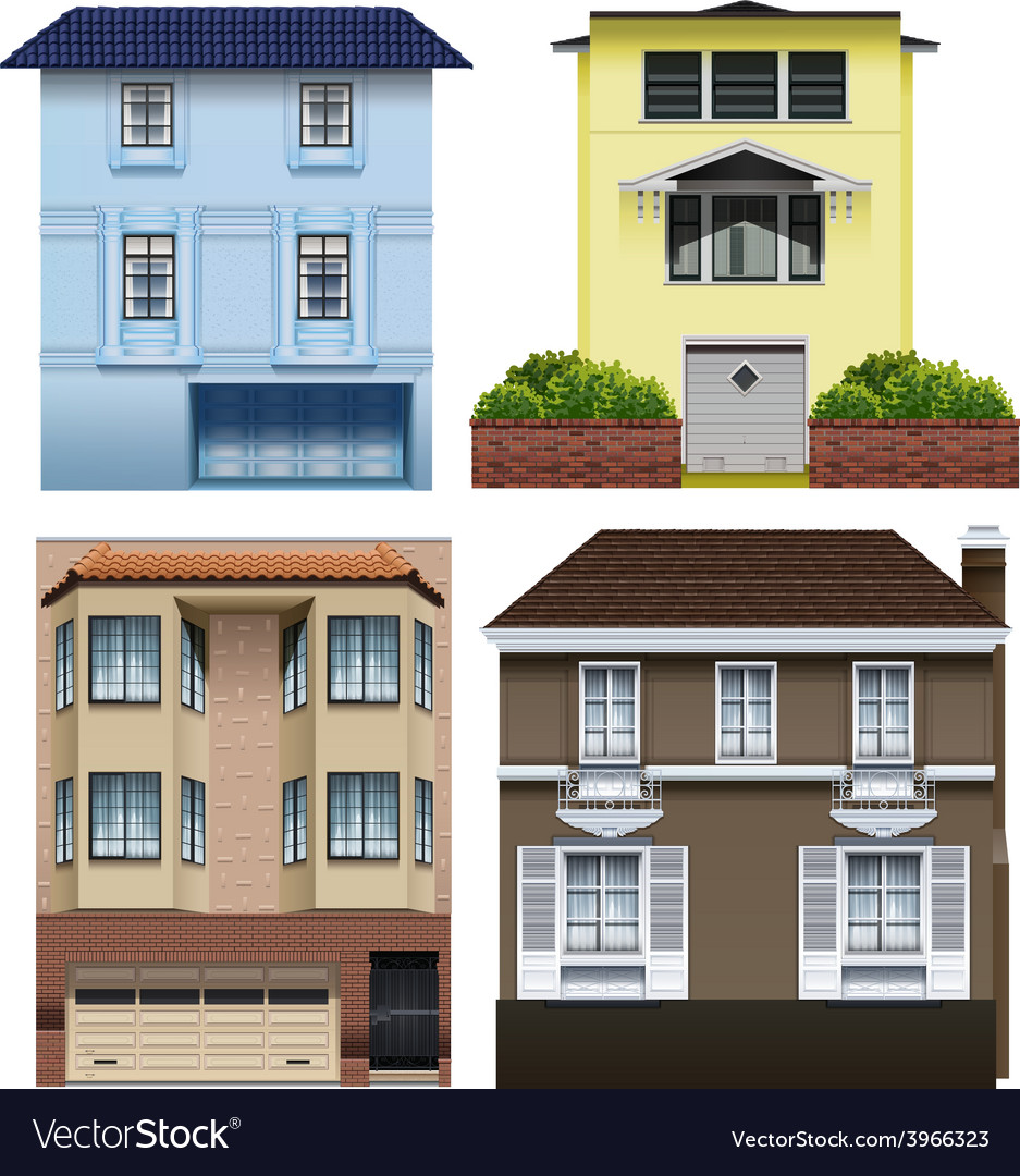 Different building designs vector | Price: 1 Credit (USD $1)