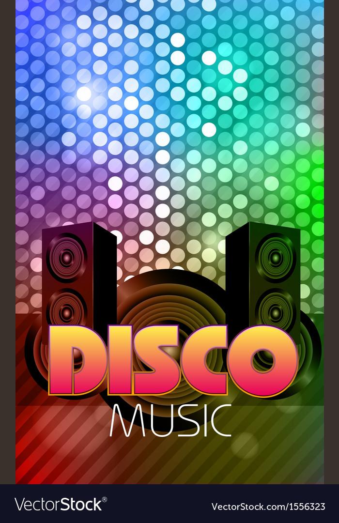 Disco poster vector | Price: 1 Credit (USD $1)