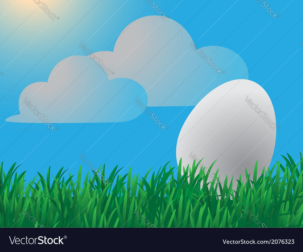 Easter spring landscape vector | Price: 1 Credit (USD $1)