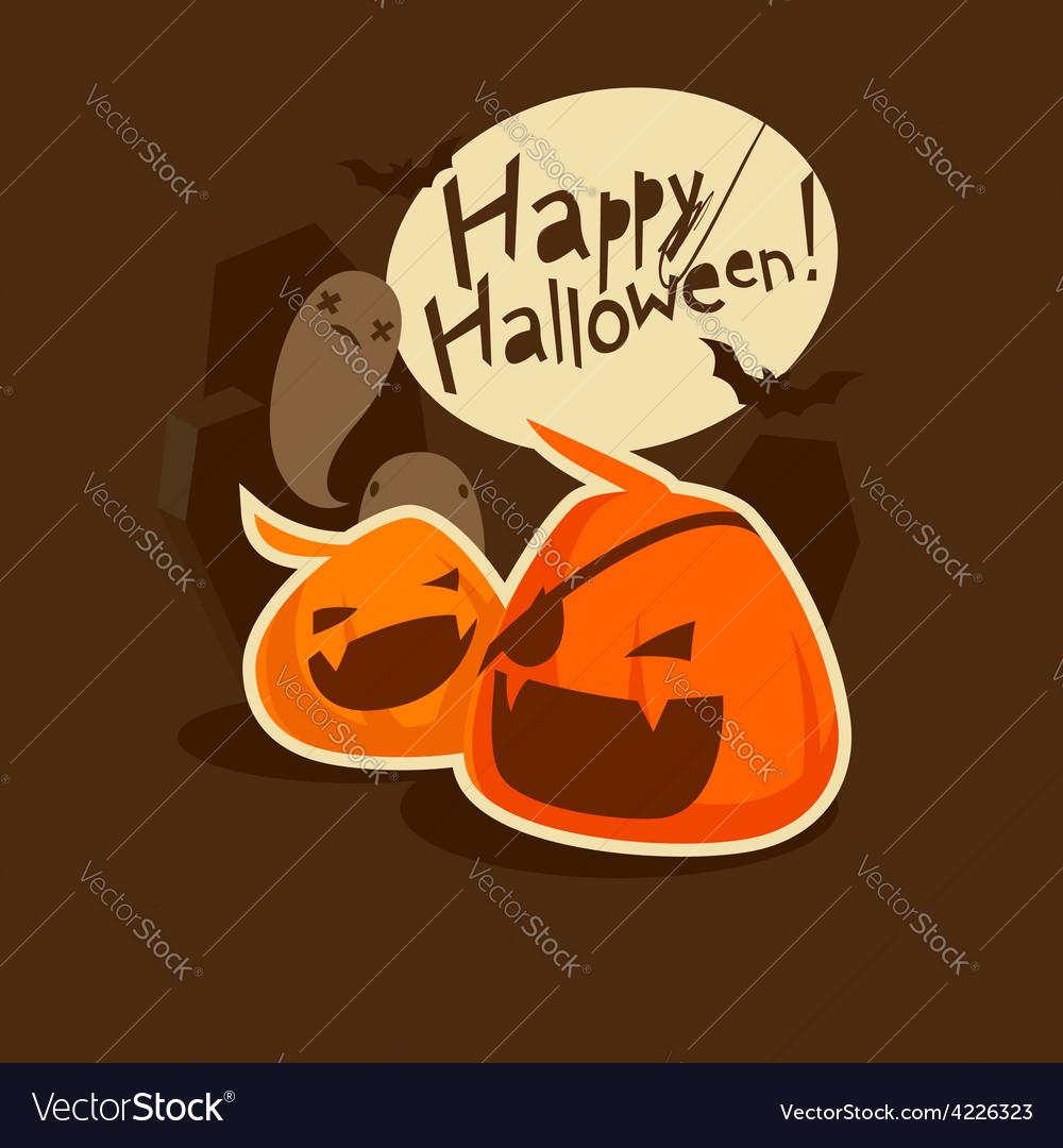 Grinning pumpkins vector   Price: 1 Credit (USD $1)