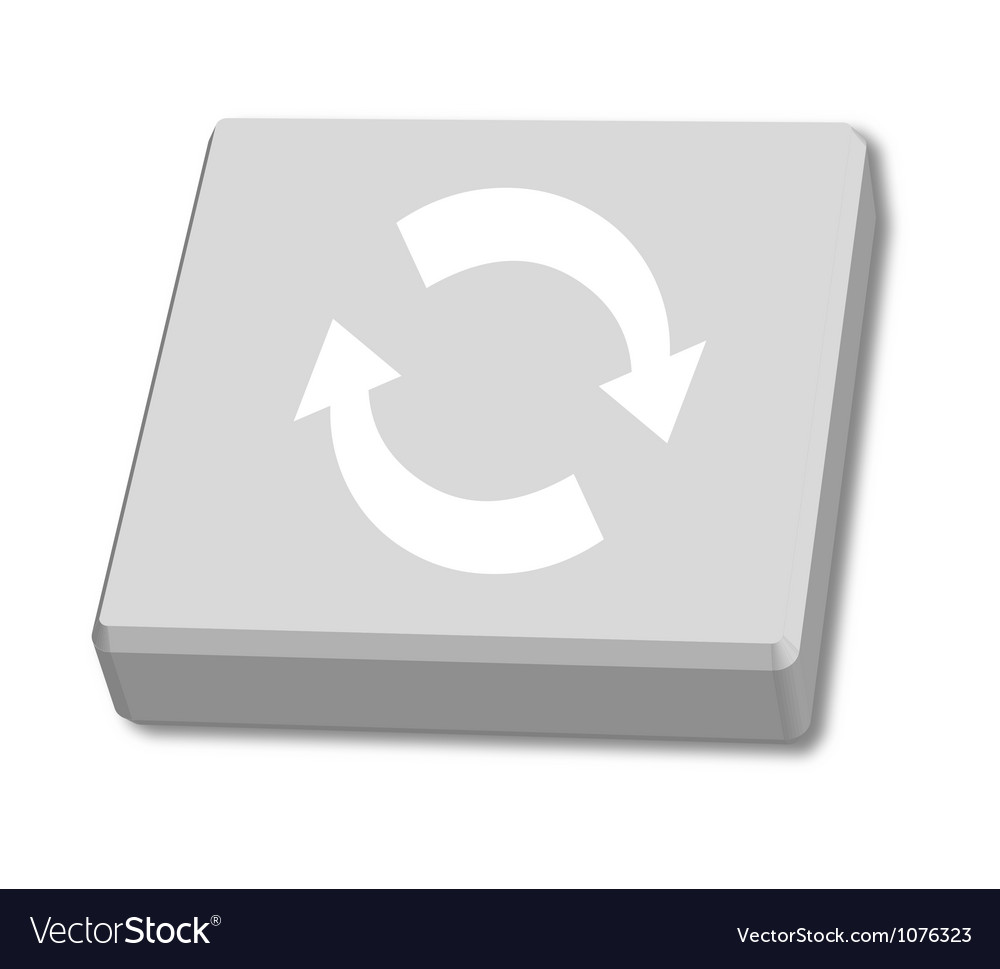 Recycled box on white background vector | Price: 1 Credit (USD $1)