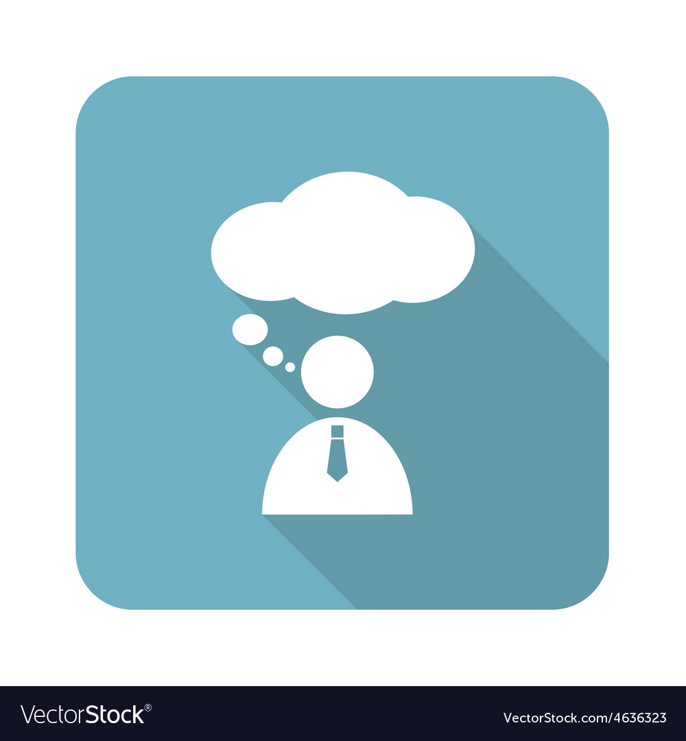 Thinking person icon vector   Price: 1 Credit (USD $1)