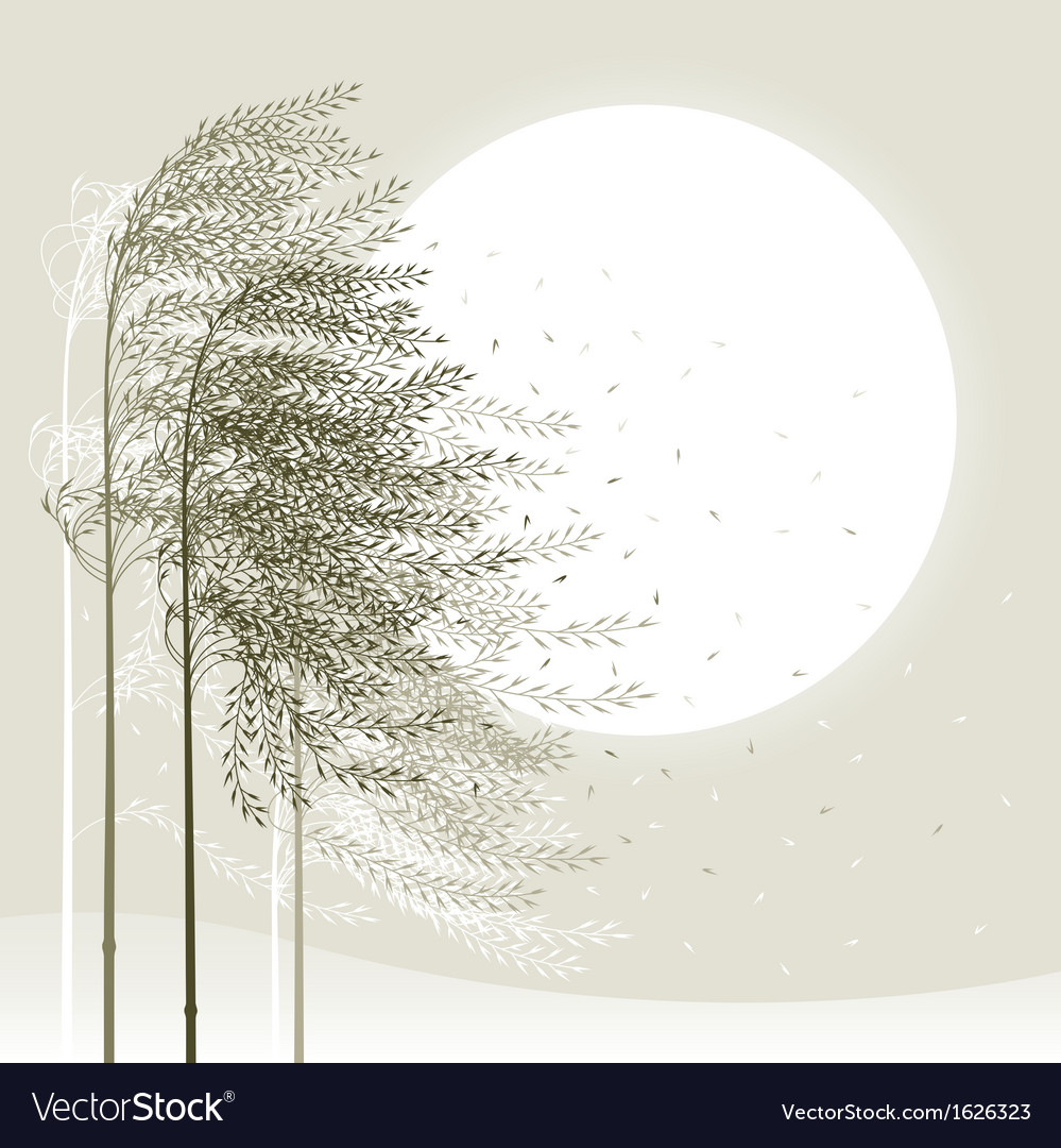 Winter reed background vector | Price: 1 Credit (USD $1)