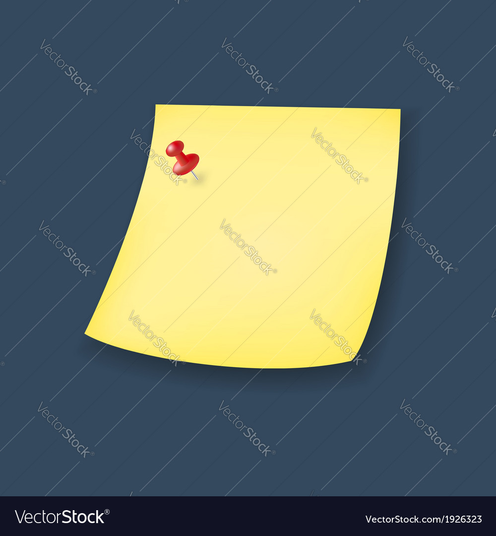 Yellow paper note vector | Price: 1 Credit (USD $1)