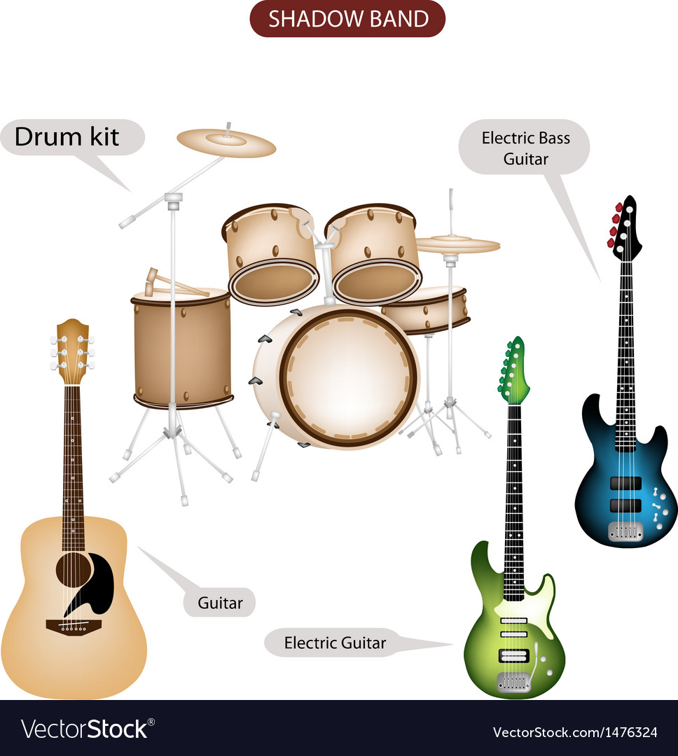 Band music equipment vector | Price: 1 Credit (USD $1)