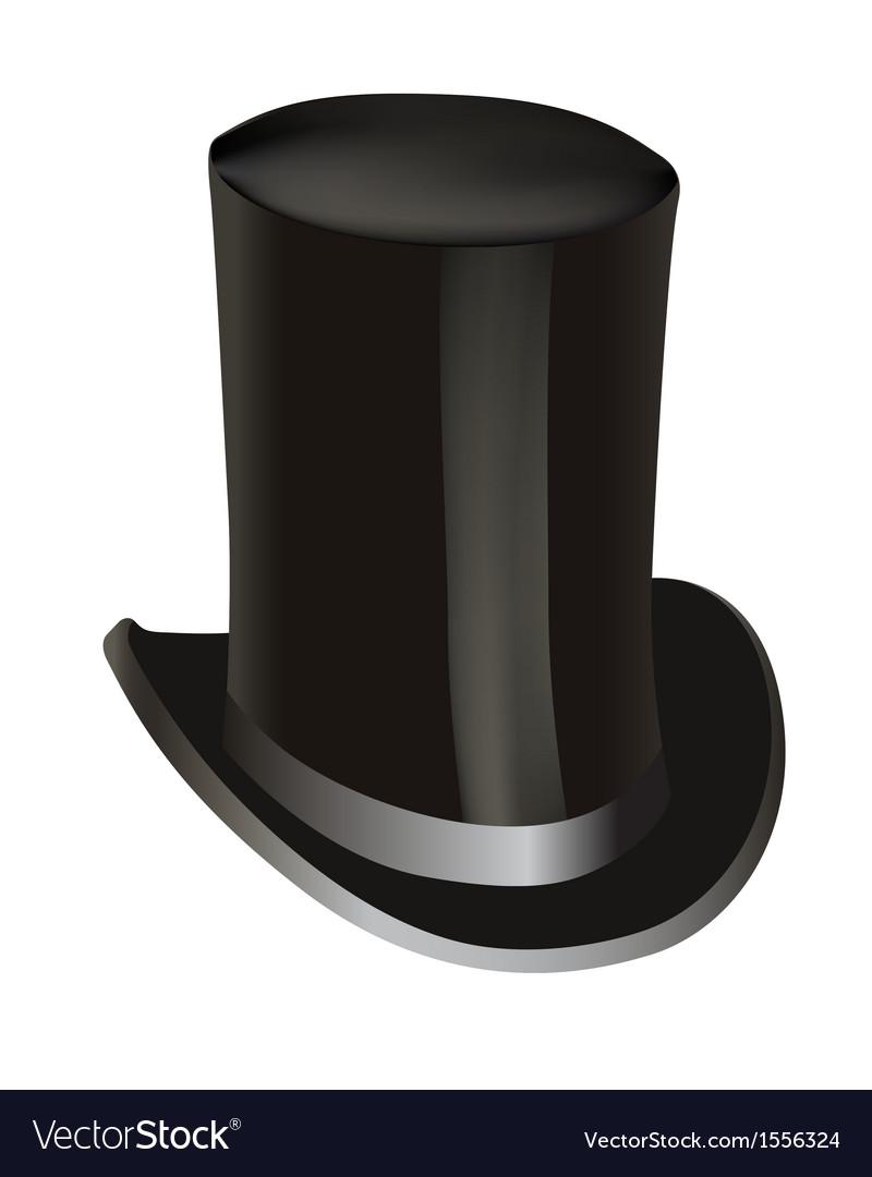 Black cylinder hat vector   Price: 1 Credit (USD $1)
