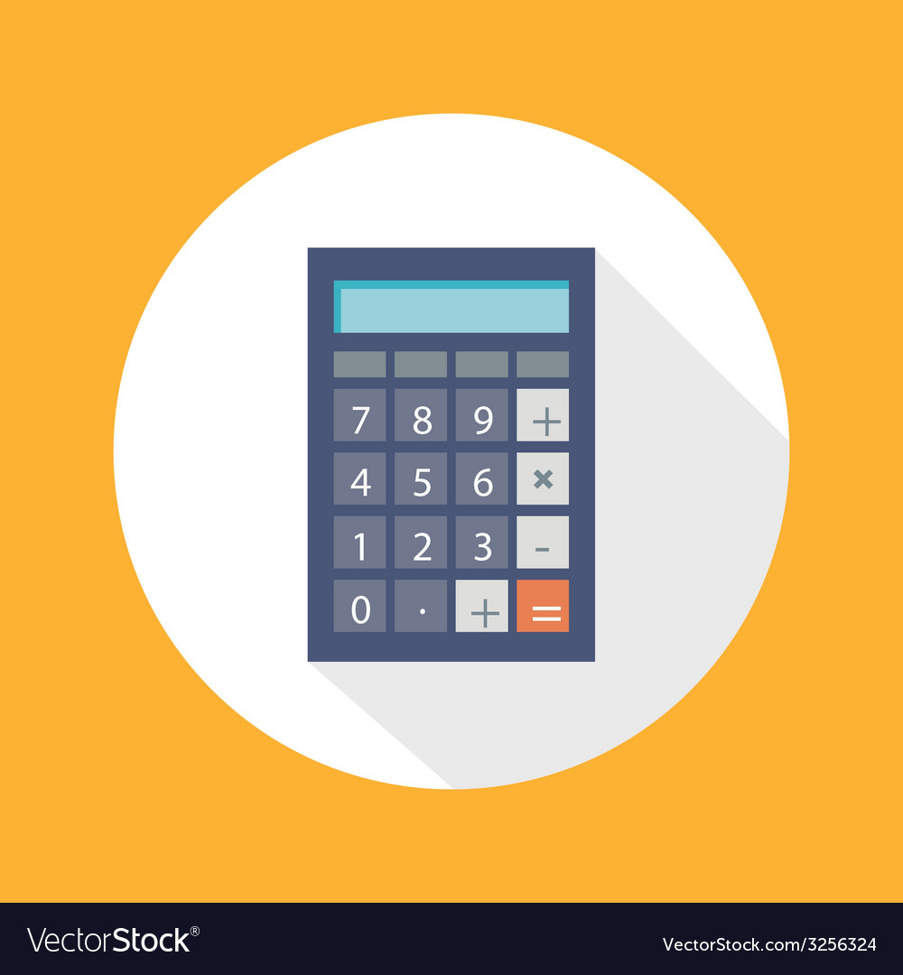 Calculator flat concept icon vector   Price: 1 Credit (USD $1)