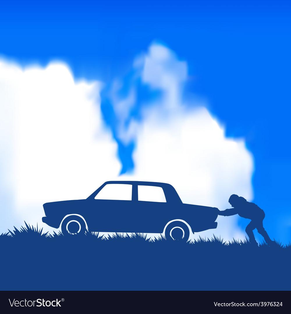 Car broke down vector | Price: 1 Credit (USD $1)