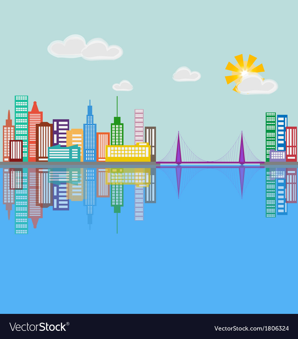 City 5 vector | Price: 1 Credit (USD $1)
