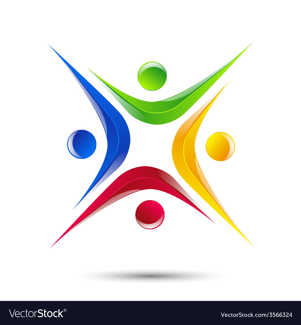 Design logo element abstract people icon vector | Price: 1 Credit (USD $1)