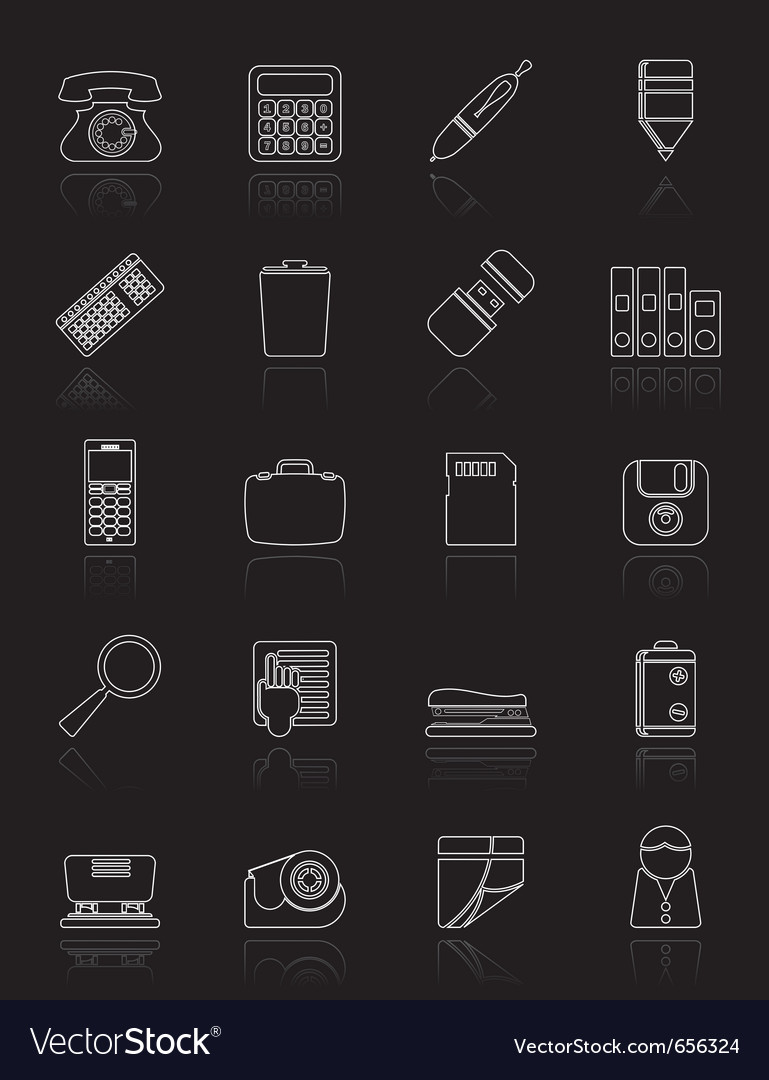 Office tools icons vector   Price: 1 Credit (USD $1)