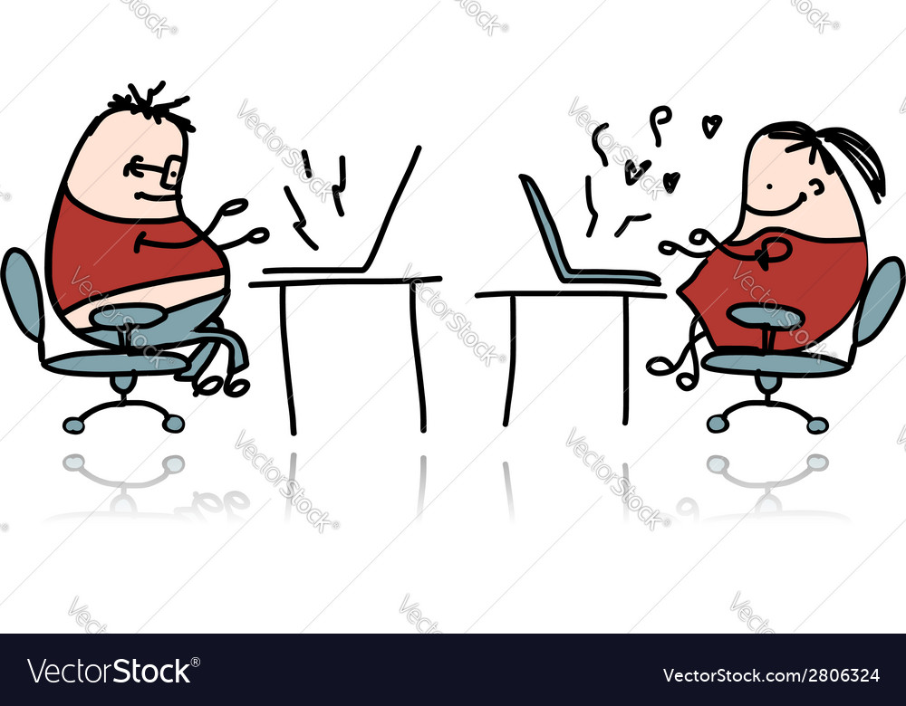 Peoples working at office cartoon for your design vector | Price: 1 Credit (USD $1)