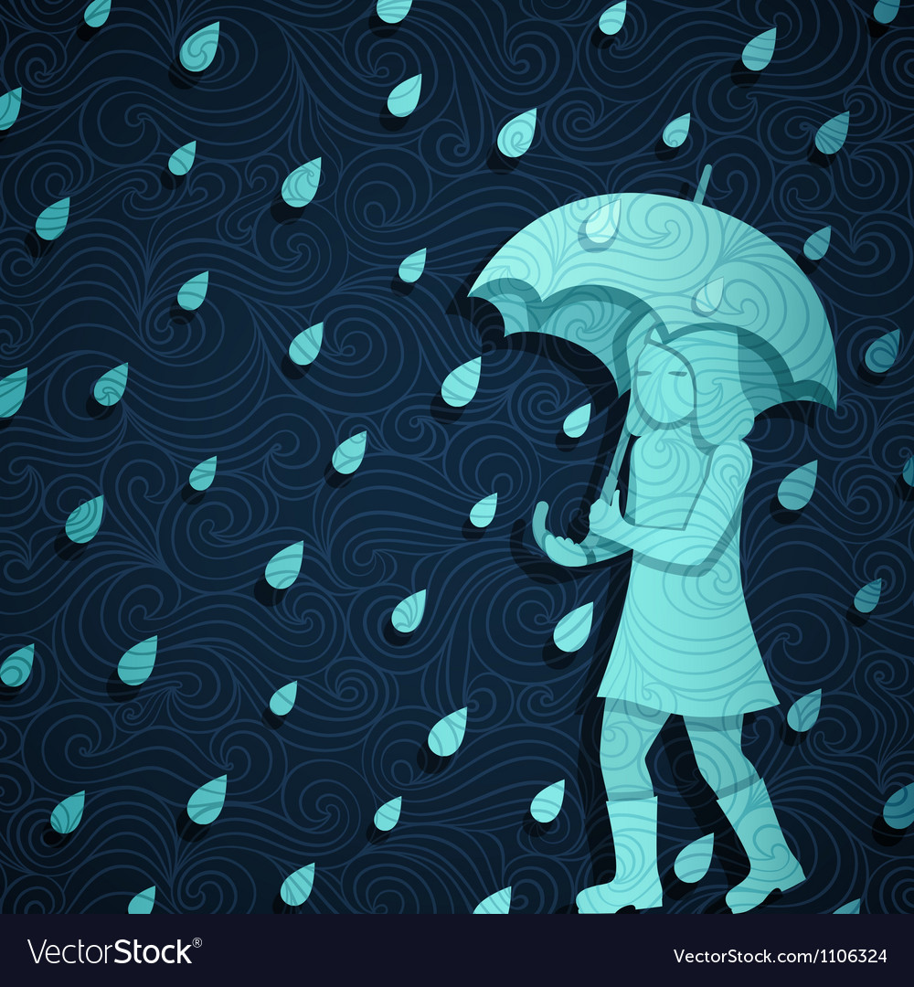 Rainy banner vector | Price: 1 Credit (USD $1)