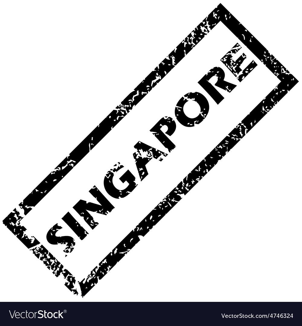 Singapore stamp vector | Price: 1 Credit (USD $1)