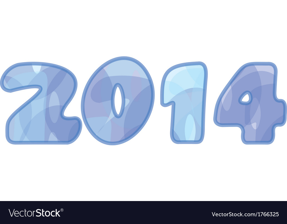 2014 year vector | Price: 1 Credit (USD $1)