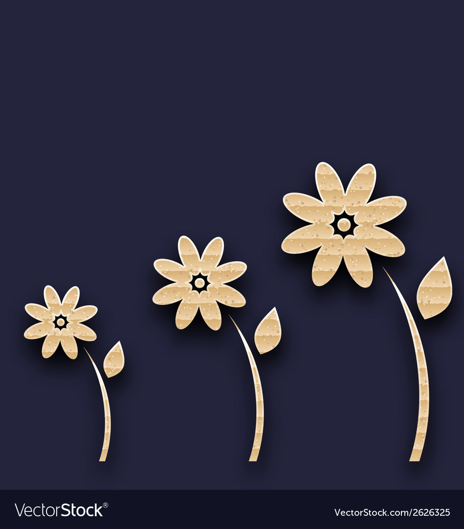 Abstract glade with paper flowers carton texture vector   Price: 1 Credit (USD $1)