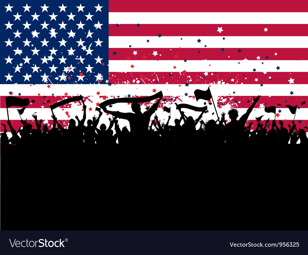 American party crowd vector | Price: 1 Credit (USD $1)
