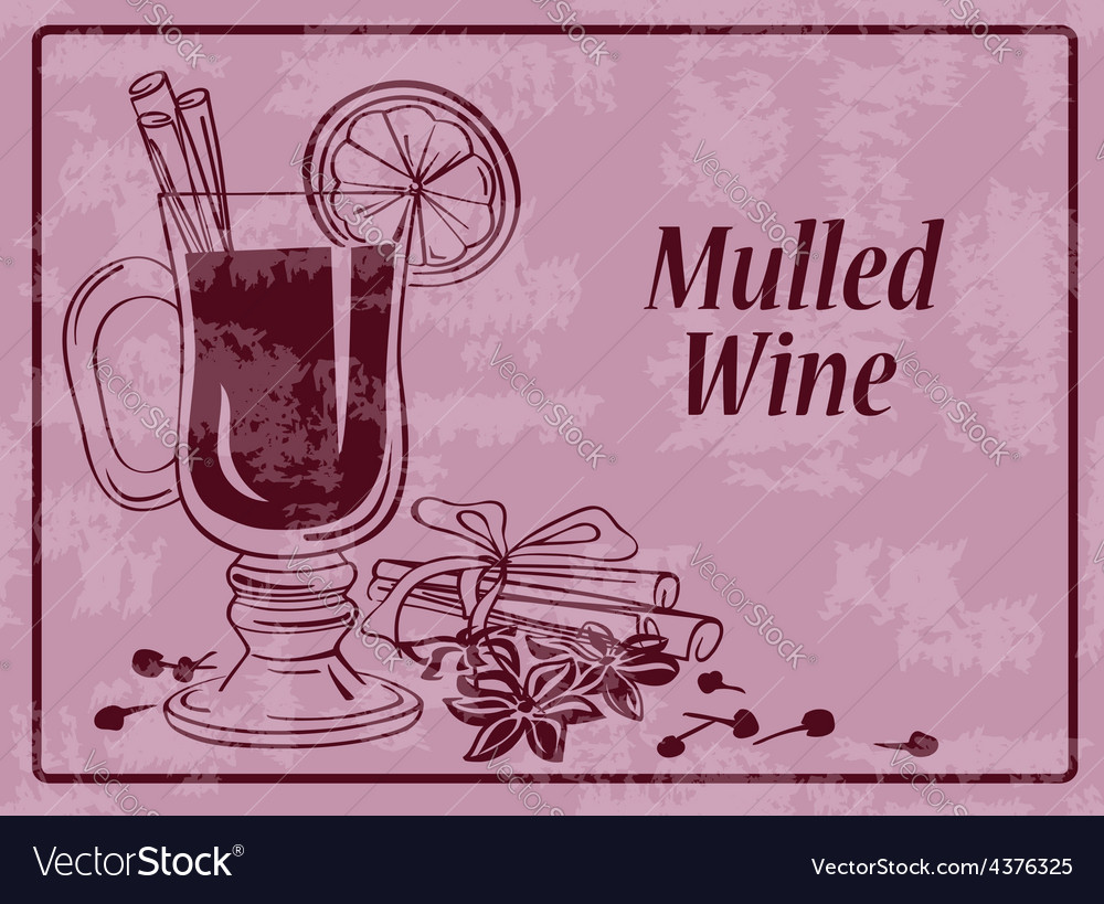 Background with mulled wine vector